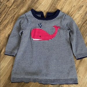 Nautical whale baby gap sweater dress.